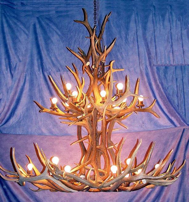how to make elk antler chandelier